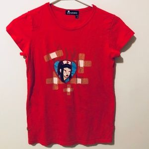 Tokidoki Red Nurse Tshirt Short Sleeve Tee 476